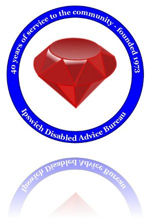 Ipswich disabled advice bureau - ruby anniversary logo