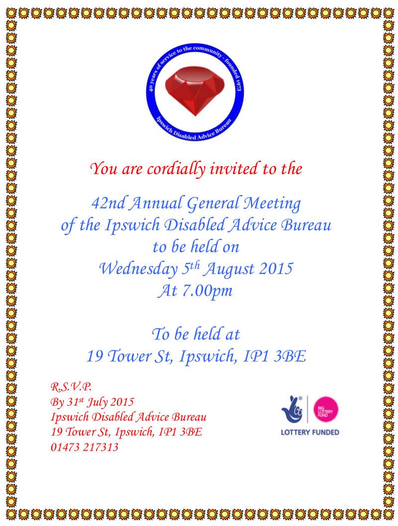 Ipswich DAB AGM Invite