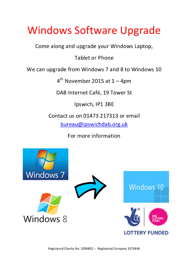 windows software upgrade event poster