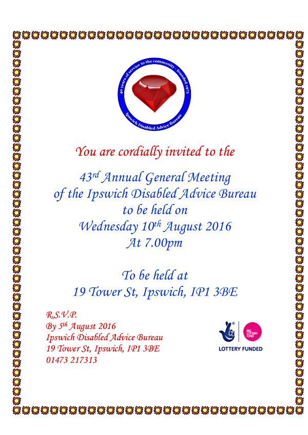 AGM invite 2016