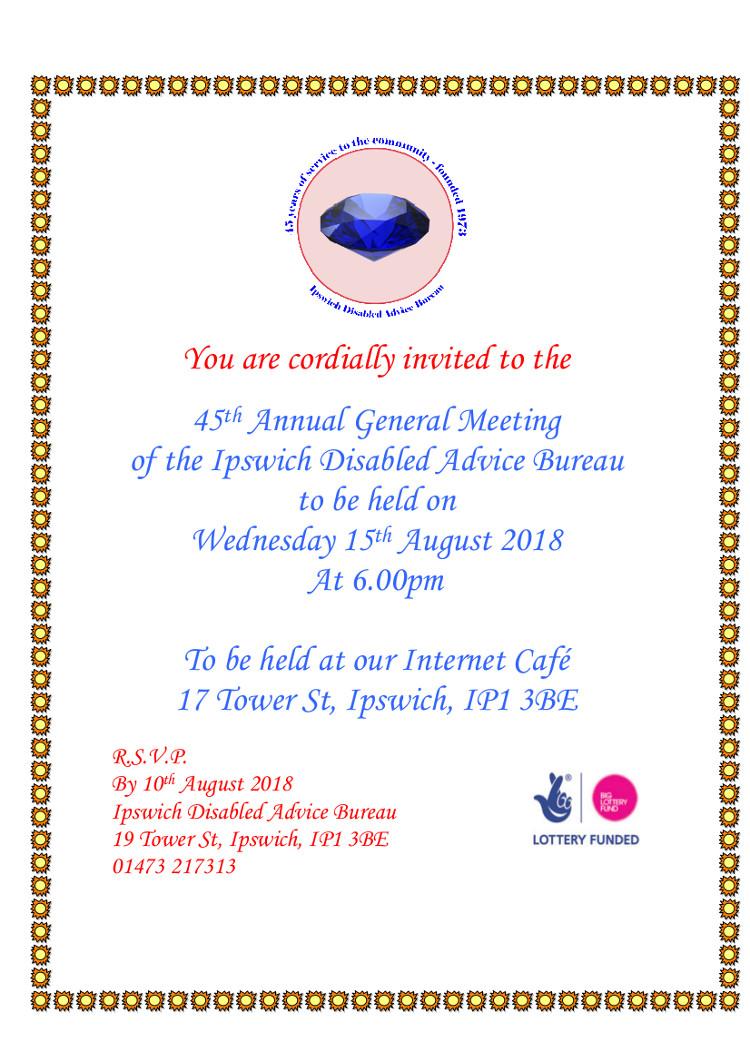 AGM invite 2018